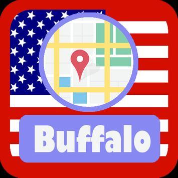 USA Buffalo City Maps poster