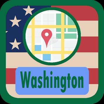 USA Washington Maps poster