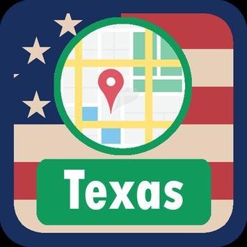 USA Texas Maps poster