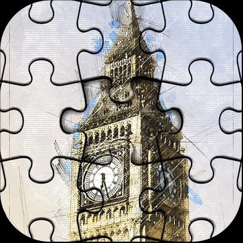 Beautiful London Jigsaw Puzzle Game poster