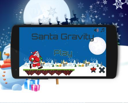 Santa Gravity poster