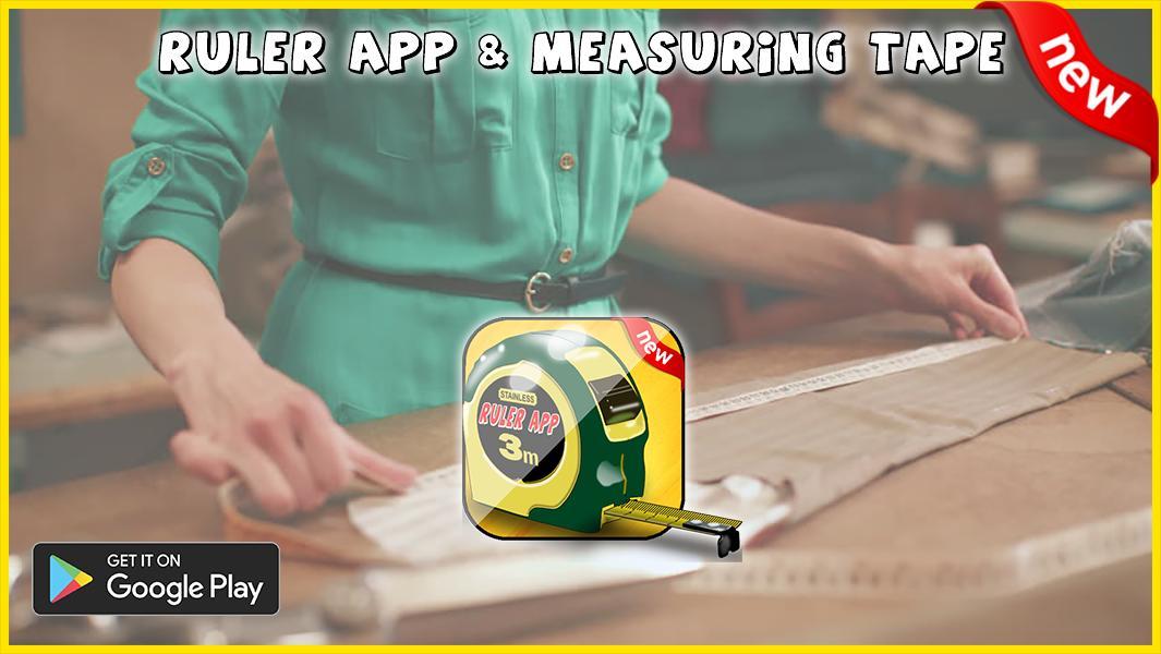 Measuring tape app & Ruler app inches centimeters for