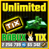 Unlimited Robux and Tix For Roblox Simulator icon