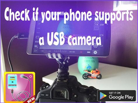 Usb camera mobile checker poster