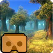 VR forest 360 icon
