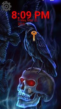 Lock Screen - Skull Raven apk screenshot