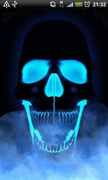 Blue Fire Skull Live Wallpaper Apk Screenshot