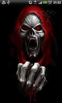 Evil Vampire Skull Live Wallpaper Theme Background Poster