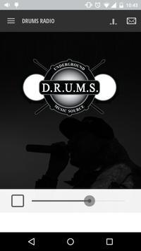DRUMS RADIO poster