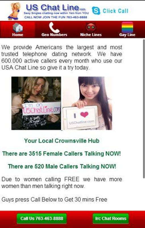 Chat line for dating