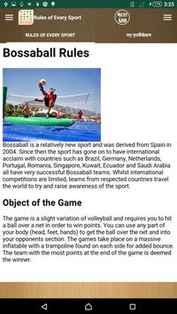 Rules of Every Sports apk screenshot