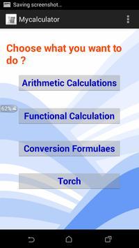 Calculator with Torch apk screenshot