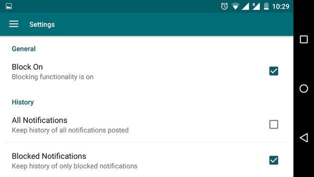 Notification Blocker apk screenshot