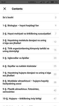 Biologiya 10-sinf screenshot 3