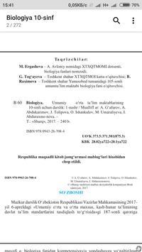 Biologiya 10-sinf screenshot 1