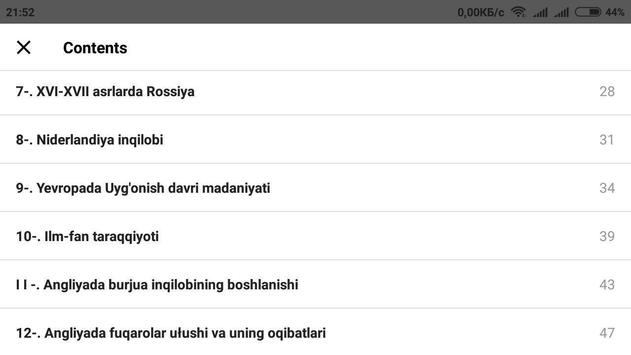 Jahon tarixi 8-sinf screenshot 5