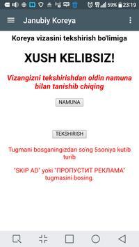 Vizani tekshirish apk screenshot