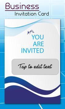 Business Card Invitation Maker & Poster Ads Maker poster