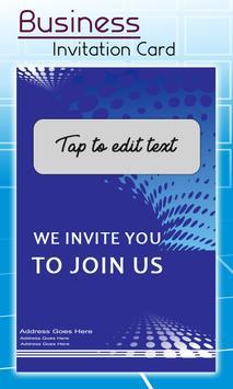 Business Card Invitation Maker & Poster Ads Maker screenshot 1