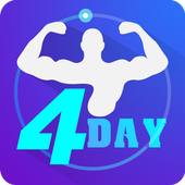 4 Day Home Muscle Building Plan icon