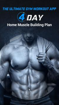 4 Day Home Muscle Building Plan poster
