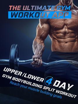 4 Day Gym Bodybuilding Split Workout screenshot 3