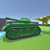 Firing Tank 3D icon