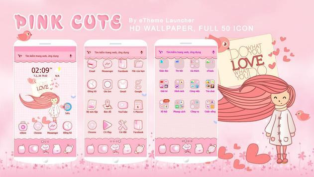 PinkCute eTheme Launcher theme poster
