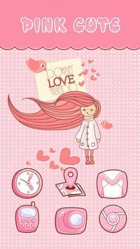 PinkCute eTheme Launcher theme apk screenshot
