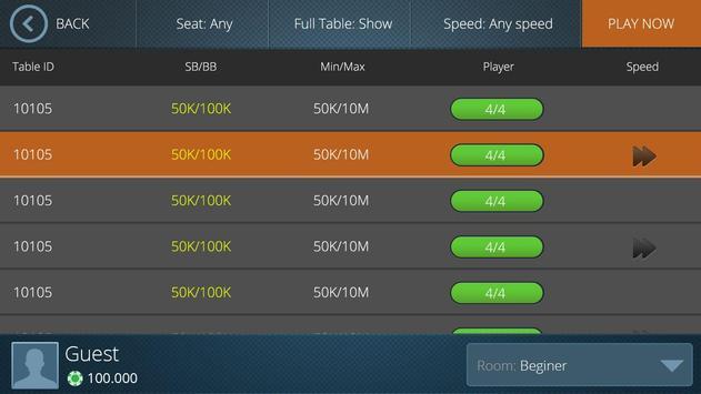 Moca Poker apk screenshot