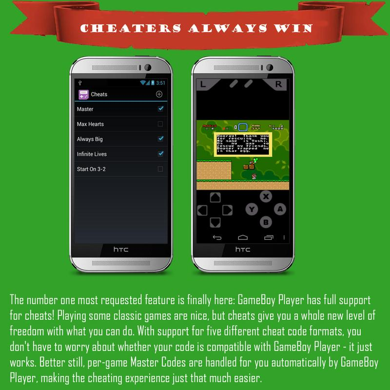 gba emulator for android that supports cheats