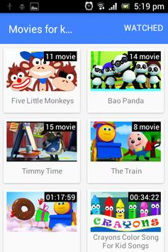 Movies for kids screenshot 1