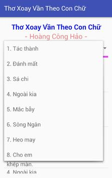Thơ Xoay Vần Theo Con Chữ poster