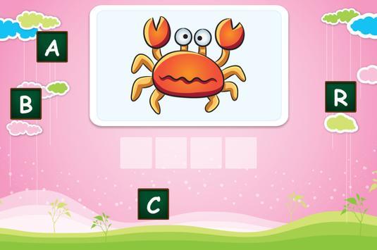 Spelling for children screenshot 1