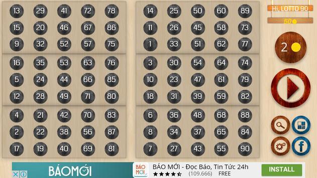 Bingo 90 Lite screenshot 2