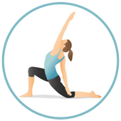 Yoga exercises for beginners icon