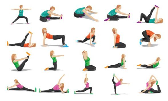 Yoga exercises for beginners poster