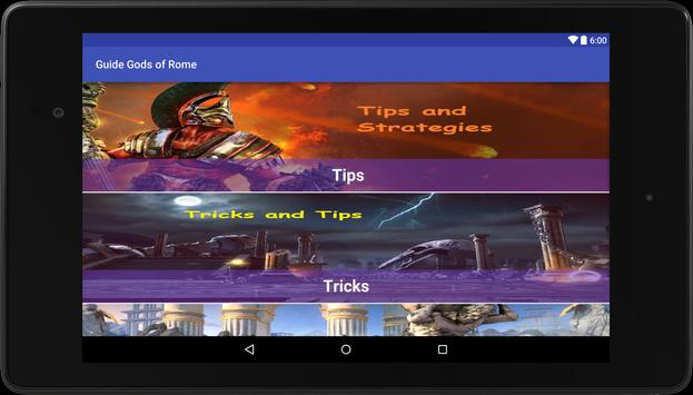 Guide for Gods of Rome apk screenshot