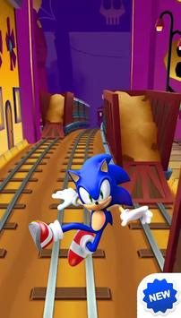Subway Sonic Run Game poster