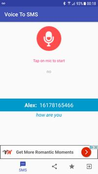 Voice to SMS apk screenshot
