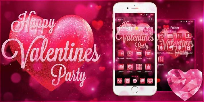 Valentine Amour Pink Theme screenshot 3