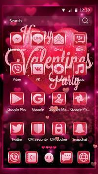 Valentine Amour Pink Theme screenshot 1