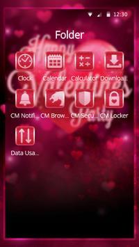 Valentine Amour Pink Theme screenshot 2