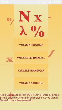 Números Aleatorios - Variables poster