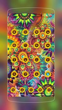 Abstract Varicolored Sunflower Relief Theme screenshot 1