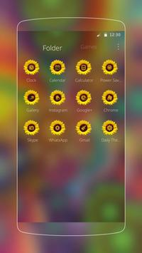 Abstract Varicolored Sunflower Relief Theme screenshot 2