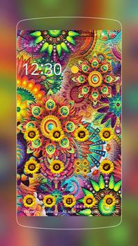 Abstract Varicolored Sunflower Relief Theme screenshot 4
