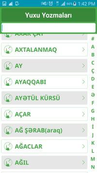 Yuxu yozmalari - Azerbaycanca apk screenshot
