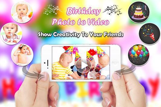 Birthday Photo Video Maker poster