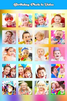 Birthday Photo Video Maker screenshot 1